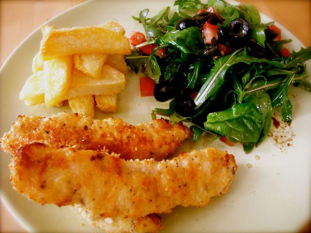 Cheesy Chicken Goujons Rhoda Kirwan