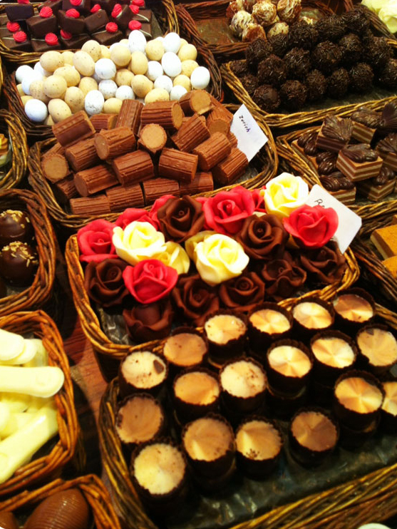 My favourite, chocolate, Boqueria Market. Barcelona